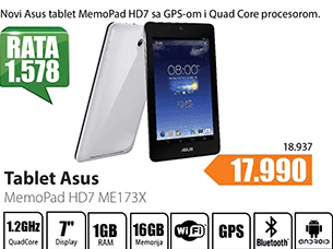 Tablet MemoPad-ME173X