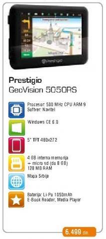 Navigasija GeoVision 5050Rs