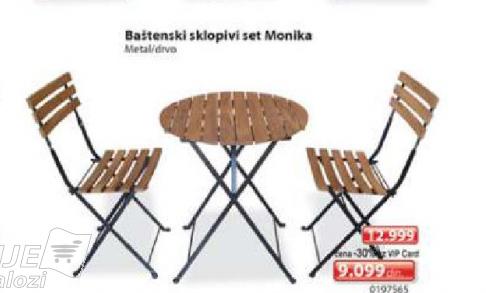 Baštenski sklopivi set Monika