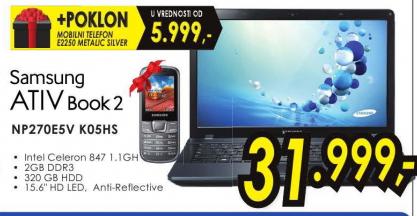 Laptop ATIV Book 2 NP270E5V K05HS