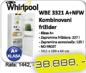 Frižider Kombinovani WBE 3321 A+NFW