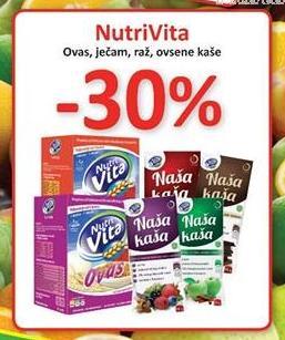 30% popusta na NutriVita pahuljice