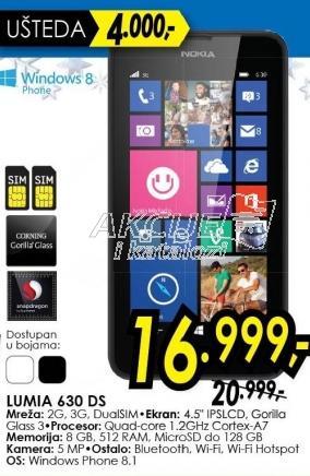 Mobilni telefon Lumia 630 Ds