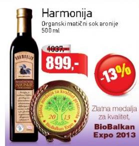 Sok aronija Harmonija