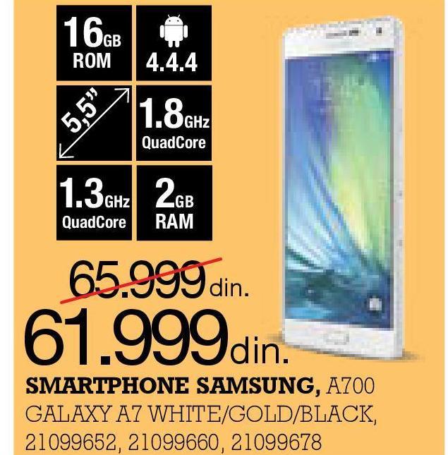 Mobilni telefon Galaxy A700
