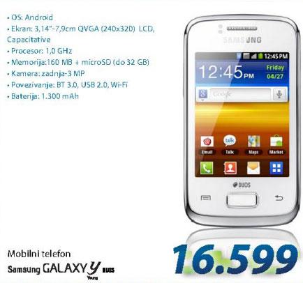 Mobilni telefon GALAXY Y DUOS WHITE