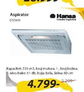 Aspirator OSC611WH