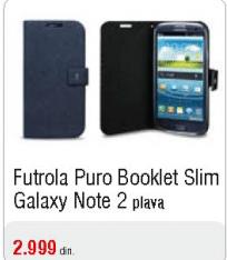 Futrola Puro Booklet Slim Galaxy Note 2