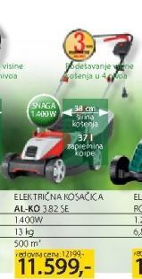 Električna Kosačica 382SE