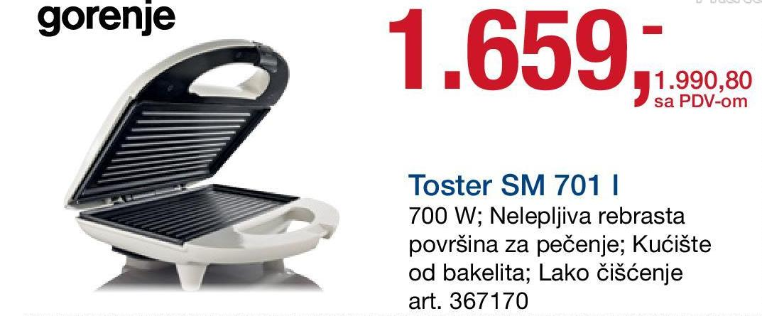 Toster grill SM 701 L