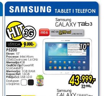 Tablet Galaxy Tab 3 P5200 10