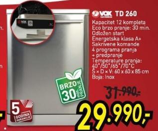 Mašina za sudove TD260