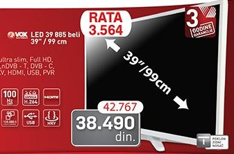 """Televizor LED 39"""" 39885 Beli"""