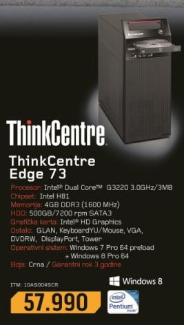 Desktop računar ThinkCentre Edge 73 10AS004SCR