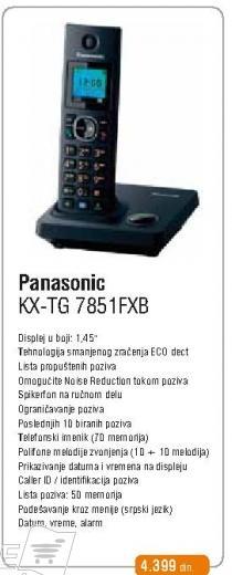 Bezicni telefon KX-TG 7851 FXB