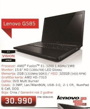 Laptop G585 (59360104)