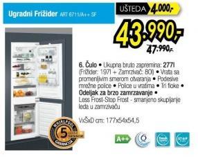 Frižider Kombinovani ART6711
