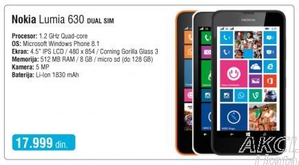Mobilni telefon Lumia 630