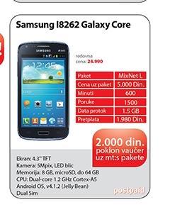 Mobilni telefon I8262 Galaxy Core