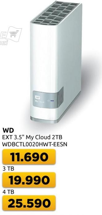 Eksterni hard disk WD My Cloud 4TB