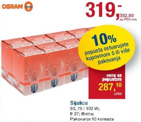 Sijalice E27 Osram
