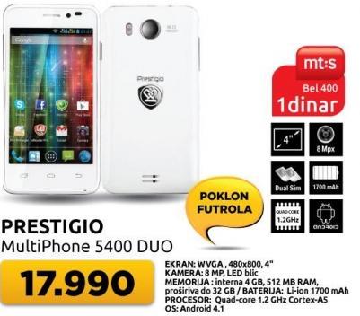 Mobilni telefom MultiPhone 5400 Duo + poklon Futrola