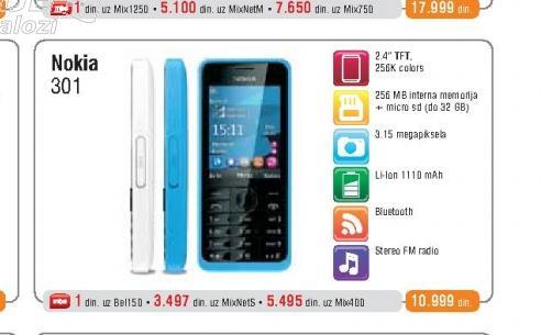 Mobilni Telefon  301 Dual SIM White