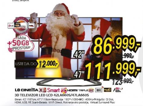 Televizor LED 47LA660S