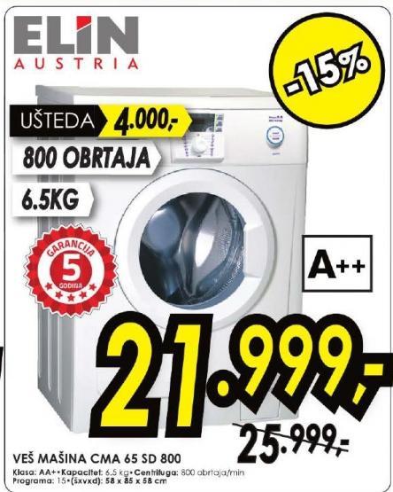 Veš Mašina CMA 65 SD 800