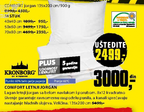 Letnji jorgan Comfort 135x220 cm