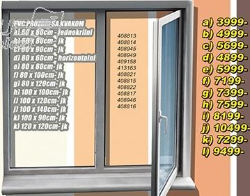 Prozor PVC sa kvakom 80x80 jk