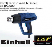 Pištolj za vrući vazduh BT-HA 2000