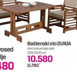 Baštenski sto Dunja