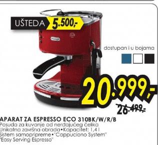 Aparat za espresso Icona ECO 310BK/W/R/B