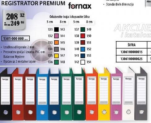 Registrator Premium Fornax