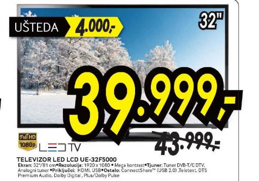 Televizor LED LCD UE-32F5000