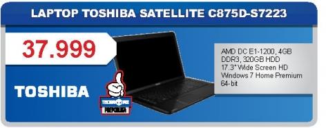 Notebook Satelitte C875D-S7223