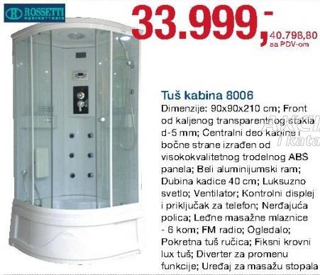 Tuš kabina 8006 Rossetti