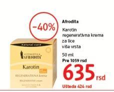 Krema za lice Karotin