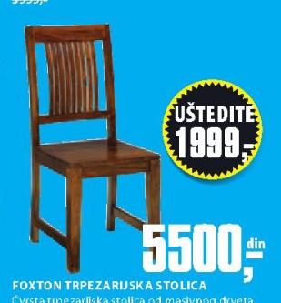 Trpezarijska stolica Foxton