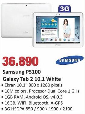 Galaxy Tab 2 10.1 White P5100