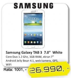 Tablet Galaxy Tab3 7.0 White