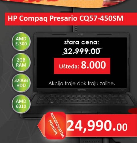Laptop Compaq Presario CQ57-450SM