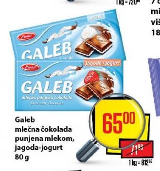 Čokolada jagoda jogurt
