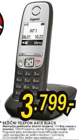 Bežični telefon Gigaset A415 Black