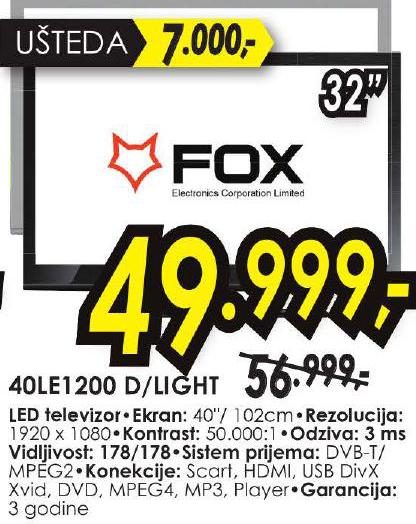 LED 49LE1200 D/LIGHT