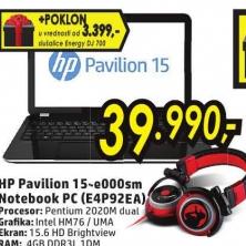 HP Pavilion 15-e000sm E4P92EA+Poklon slušalice Energy DJ