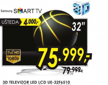 Televizor LED LCD 3D UE-32F6510