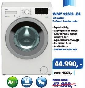 Mašina Za Veš WMY 91283 LB2