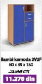 Komoda BAMBI 2V2F